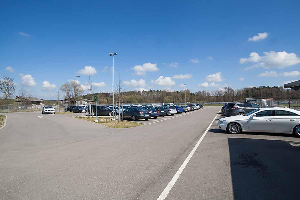 Parkplatzbau